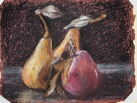 """A Pear and a Pair (12"""" x 15"""")"""