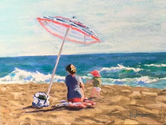 """Beach Baby (12""""x16"""")"""