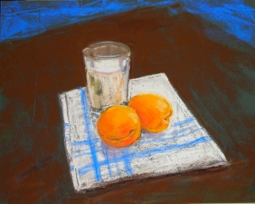 """Milk and Apricots (11"""" x 14"""")"""